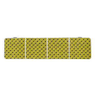 Shells and Flowers Yellow Pong Table