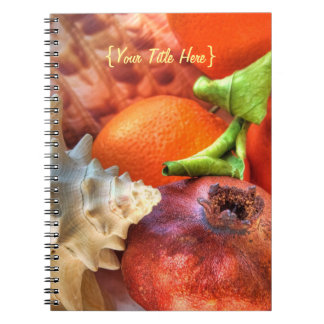 Shells and Fruits still-life Notebook