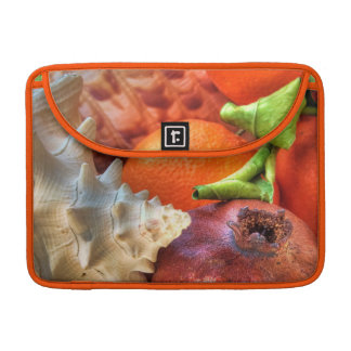 Shells and Fruits still-life Sleeve For MacBook Pro