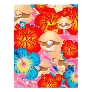 Shells and hibiscus flyer