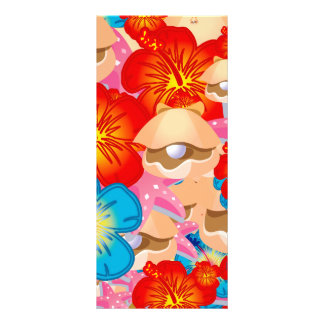 Shells and hibiscus rack card