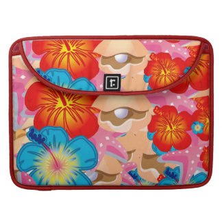 Shells and hibiscus sleeve for MacBooks