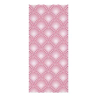 Shells artwork pattern rack card