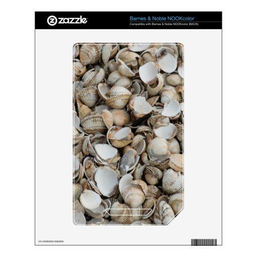 Shells background skins for the NOOK color