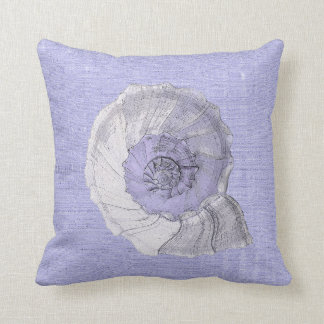 shells  green /purple throw pillow