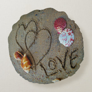 shells,hearts,  Love on beach custom  pillow