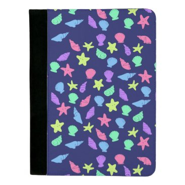 Beach Themed shells in neon padfolio