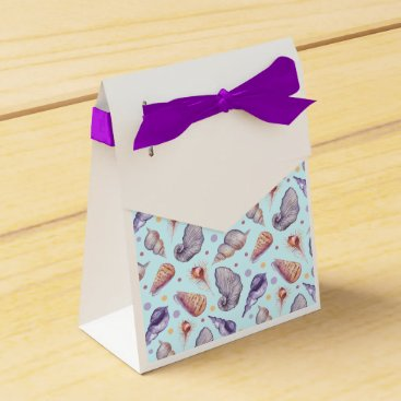 Beach Themed Shells, lake, illustration favor box