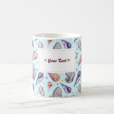 Shells, lake, illustration. Personalisierbar Coffee Mug