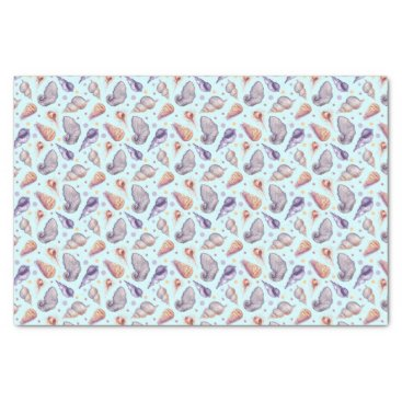 Beach Themed Shells, lake, illustration tissue paper