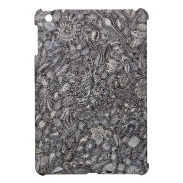 Beach Themed Shells marine Decoration of shells Cover For The iPad Mini