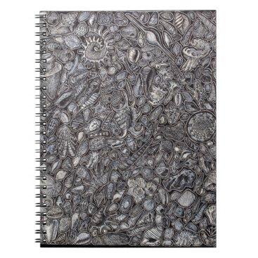 Beach Themed Shells marine Decoration of shells Notebook
