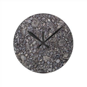 Beach Themed Shells marine Decoration of shells Round Clock