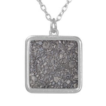 Beach Themed Shells marine Decoration of shells Silver Plated Necklace
