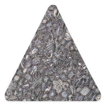 Beach Themed Shells marine Decoration of shells Triangle Sticker
