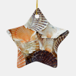 Shells of the Scallop  species  Zyclochlamys patag Ceramic Ornament