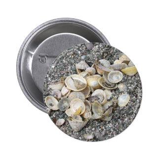 Shells On A Cornish Beach Pinback Button