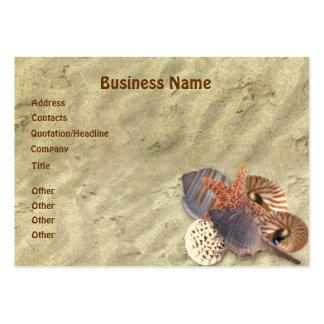 Shells on Beach Business Card Templates