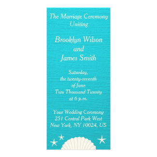 Shells On Beach Wedding Ceremony Programs