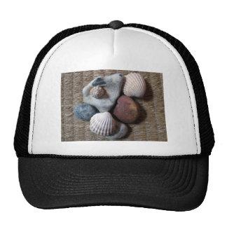 Shells on seagrass trucker hat