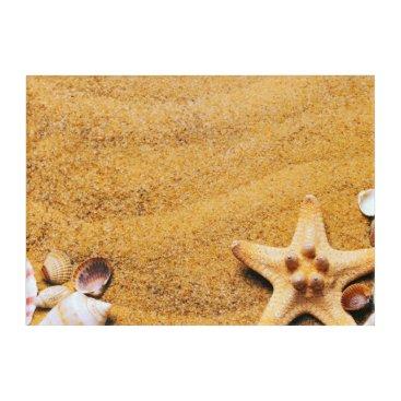 Shells on the beach acrylic wall art