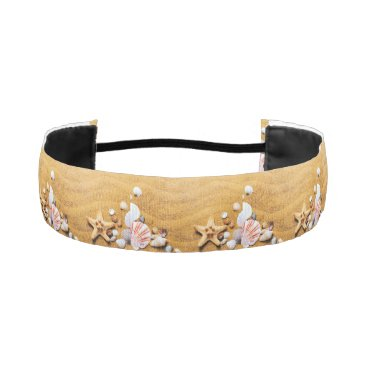 Beach Themed Shells on the beach athletic headband