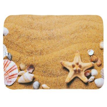Beach Themed Shells on the beach baby blanket