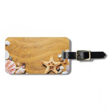Beach Themed Shells on the beach bag tag
