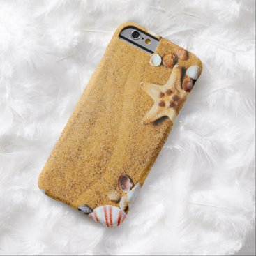 Beach Themed Shells on the beach barely there iPhone 6 case