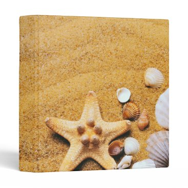 Shells on the beach binder