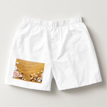 Shells on the beach boxers
