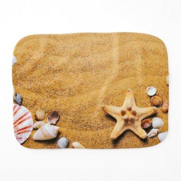 Beach Themed Shells on the beach burp cloth