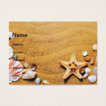 Beach Themed Shells on the beach business card