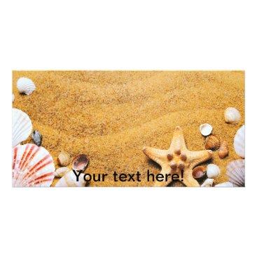 Beach Themed Shells on the beach card