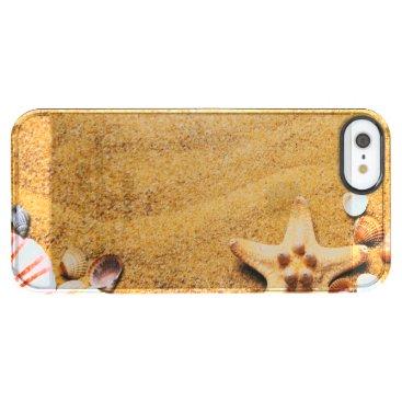 Beach Themed Shells on the beach clear iPhone SE/5/5s case