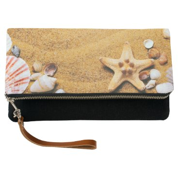 Beach Themed Shells on the beach clutch
