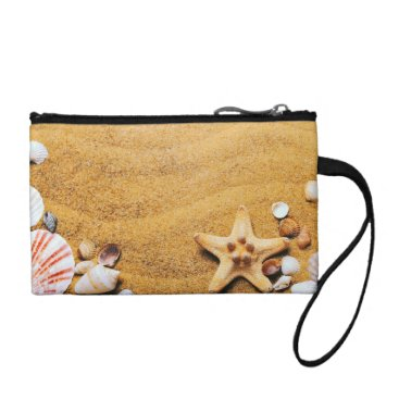 Beach Themed Shells on the beach coin purse