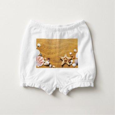 Beach Themed Shells on the beach diaper cover