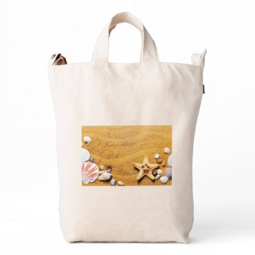 Shells on the beach duck bag