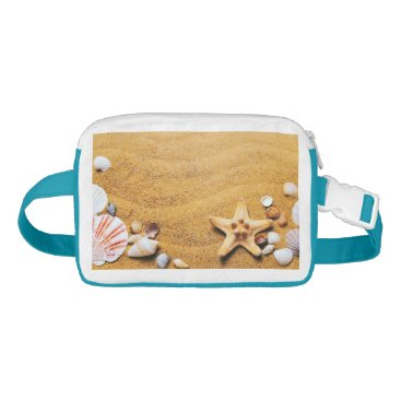 Beach Themed Shells on the beach fanny pack