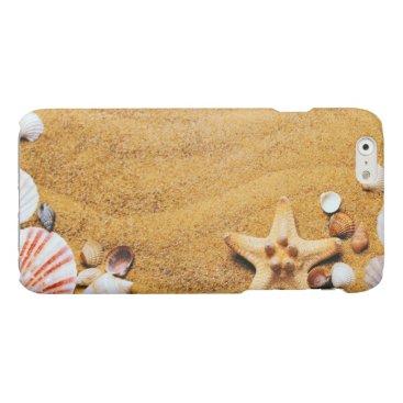Beach Themed Shells on the beach glossy iPhone 6 case
