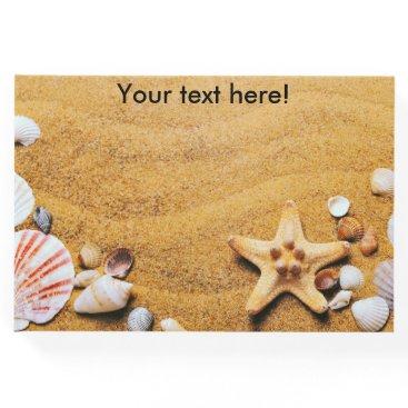 Beach Themed Shells on the beach guest book
