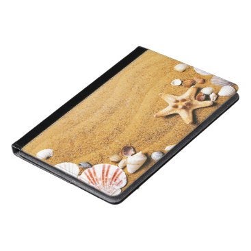Beach Themed Shells on the beach iPad air case