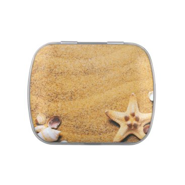 Shells on the beach jelly belly tin