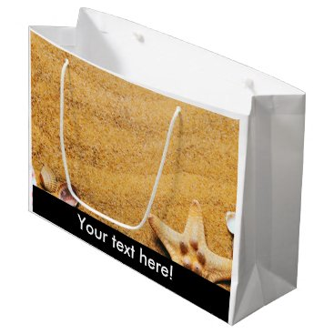 Shells on the beach large gift bag