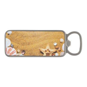 Beach Themed Shells on the beach magnetic bottle opener