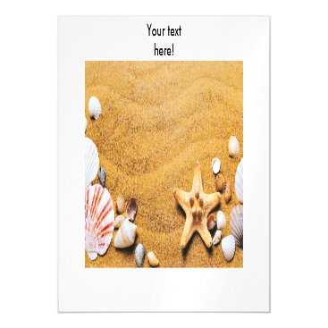 Beach Themed Shells on the beach magnetic card