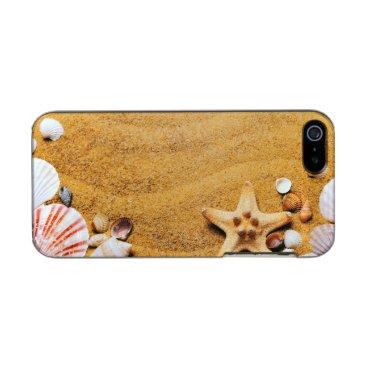 Beach Themed Shells on the beach metallic phone case for iPhone SE/5/5s