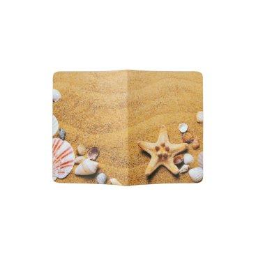 Beach Themed Shells on the beach passport holder