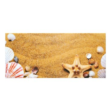 Shells on the beach rack card